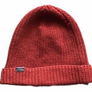 Coach Knit Wool Beanie Hat Orange